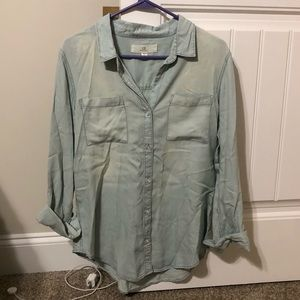 Blue jean button down long sleeve